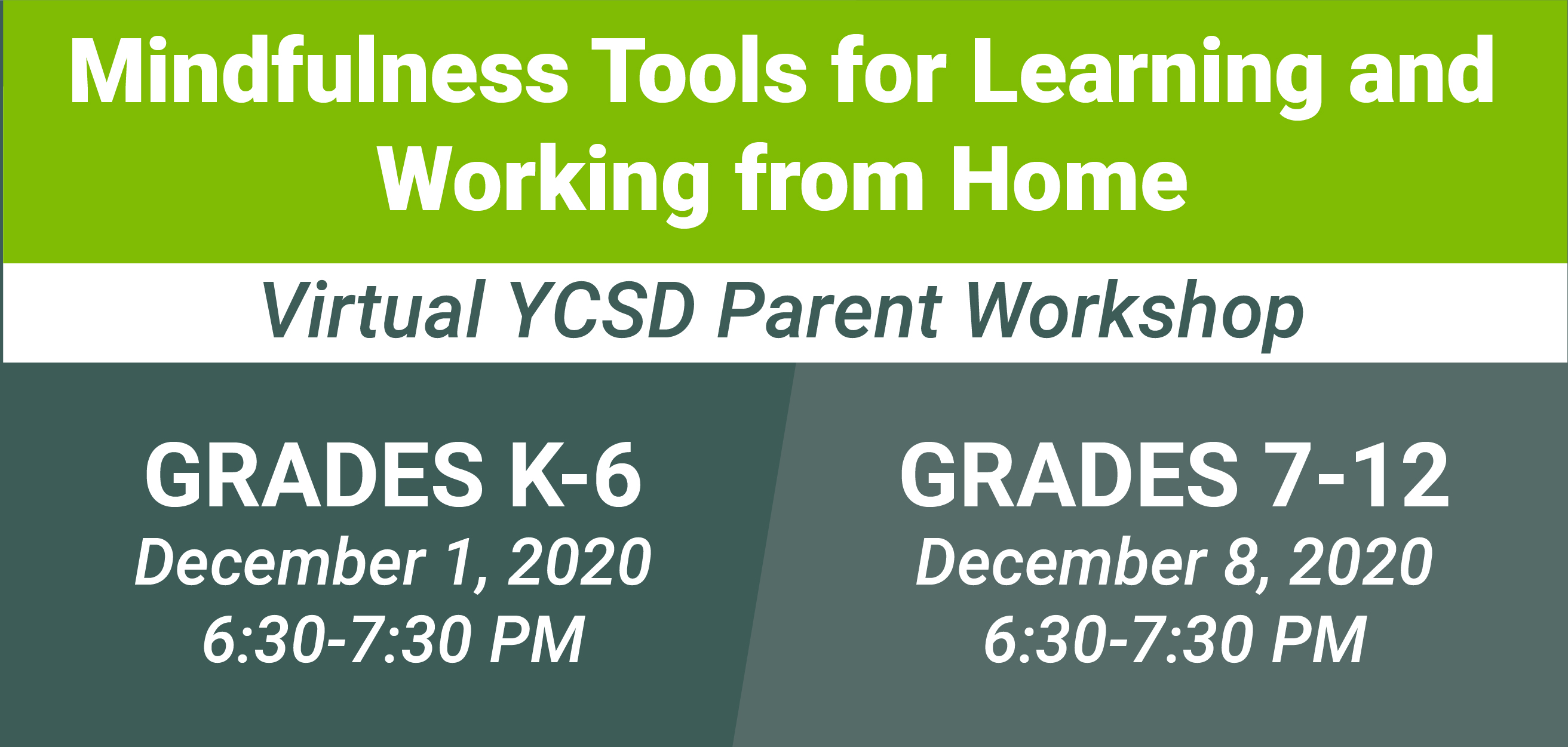 Mindfulness tools parent workshop