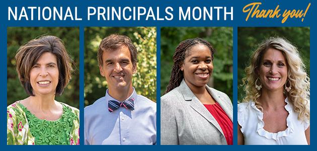 National principals month. Thank you.
