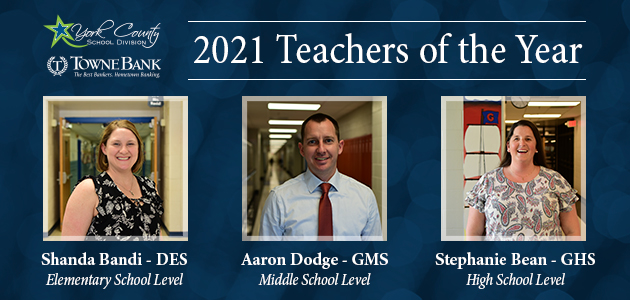 2021 teacher of the year level winners