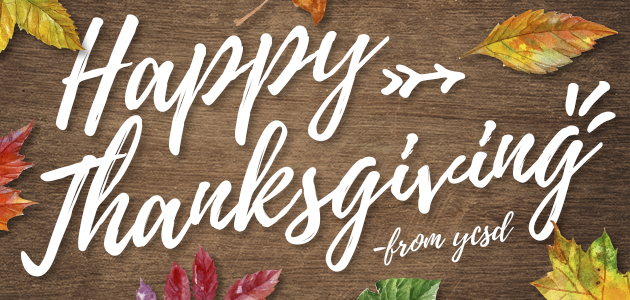 Happy thanksgiving from YCSD