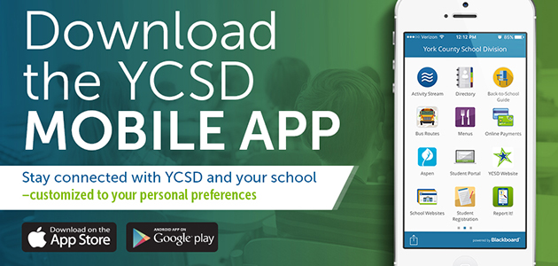 Download the YCSD Mobile App. A new way to say connected with YCSD - customized to your personal preferences.